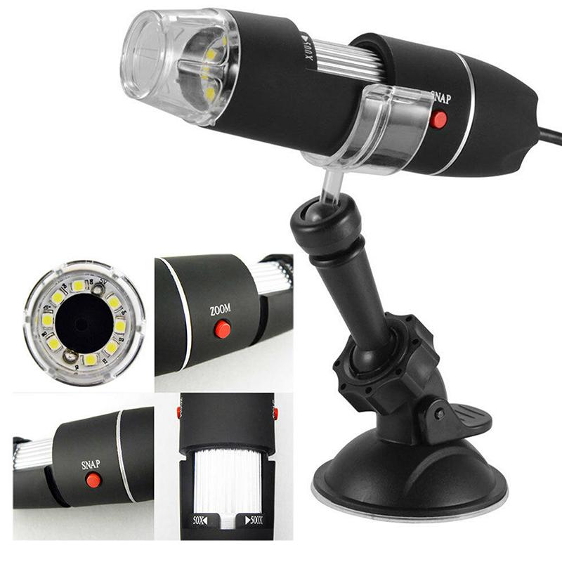 1000* Zoom 8 LED USB Microscope Digital Camera Video 1000*HD