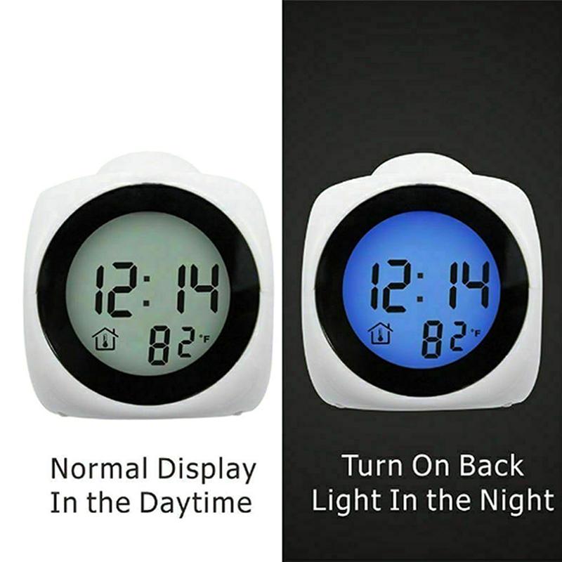 Projection LED WallCeiling Alarm Clock Black